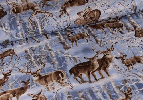 Timeless Treasures Winter Wonder Land Deer