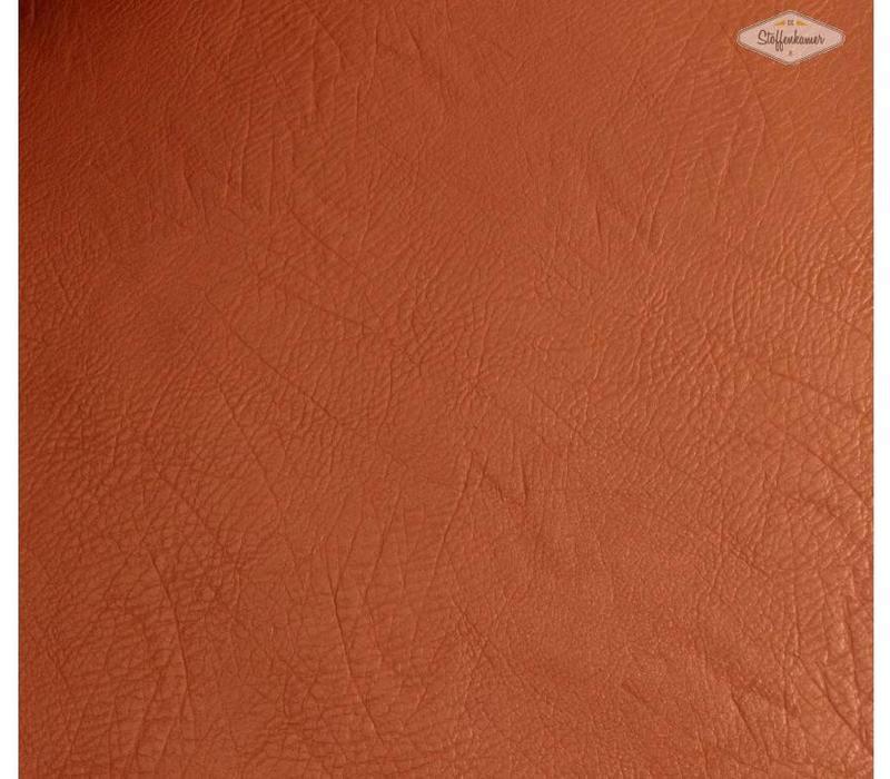 Faux-Leather Cognac