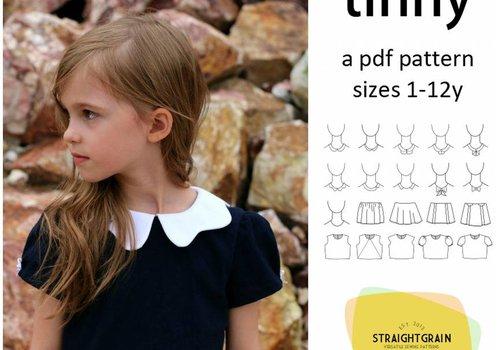 Straightgrain Patterns Tinny Dress Straightgrainpatterns