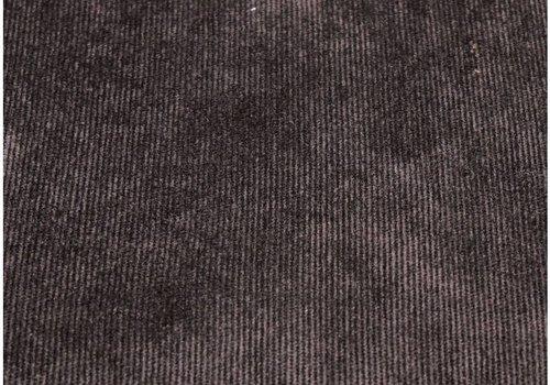 De Stoffenkamer Velours Babyrib Zwart