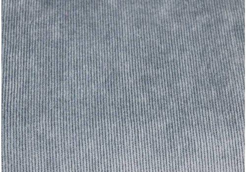 De Stoffenkamer Velours Babyrib Dusty Blue