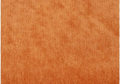 De Stoffenkamer Velours Babyrib Oranje