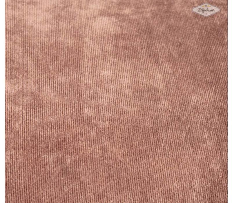 Velours Babyrib Taupe-bruin