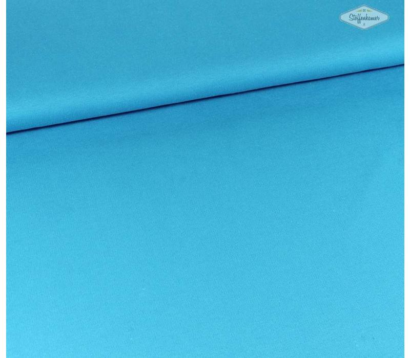 Effen sweaterstof Turquoise