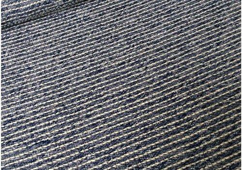 De Stoffenkamer Bouclé sweaterstof donkerblauw metallic