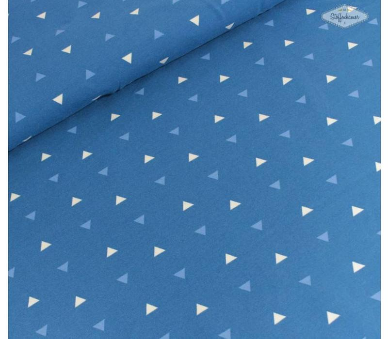 Tricot Blue Triangles