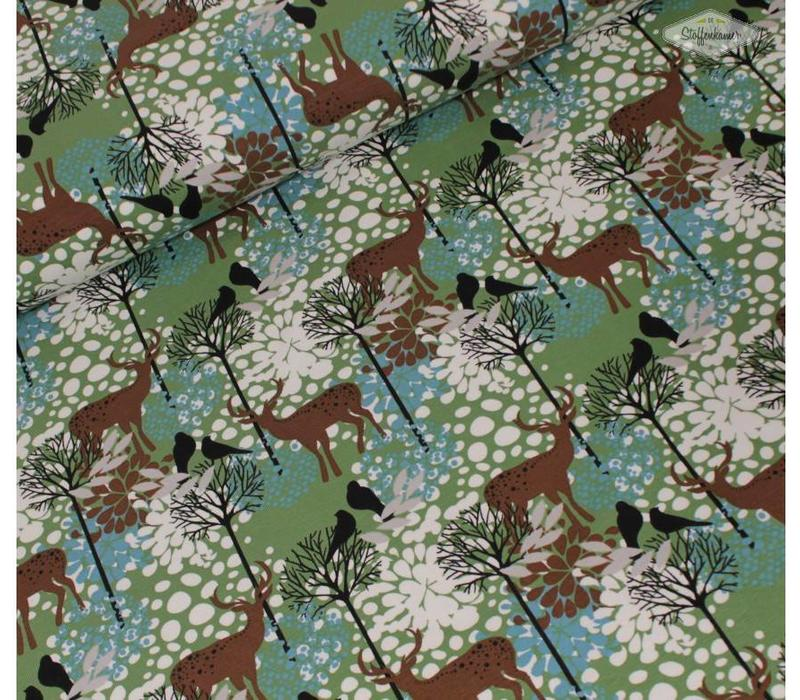 Tricot Deer in the wood