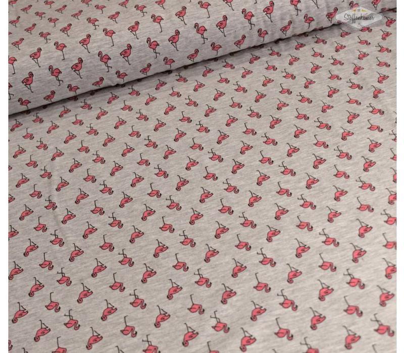 Tricot Grey Flamingo