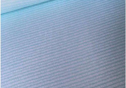 De Stoffenkamer Interlock tricot turquoise stripes