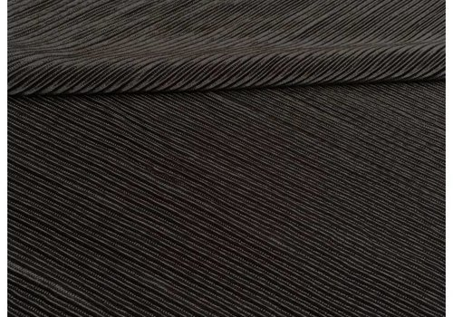 De Stoffenkamer Viscose Pliss? Black