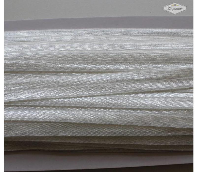 Rekbare biaisband gebroken wit, ecru
