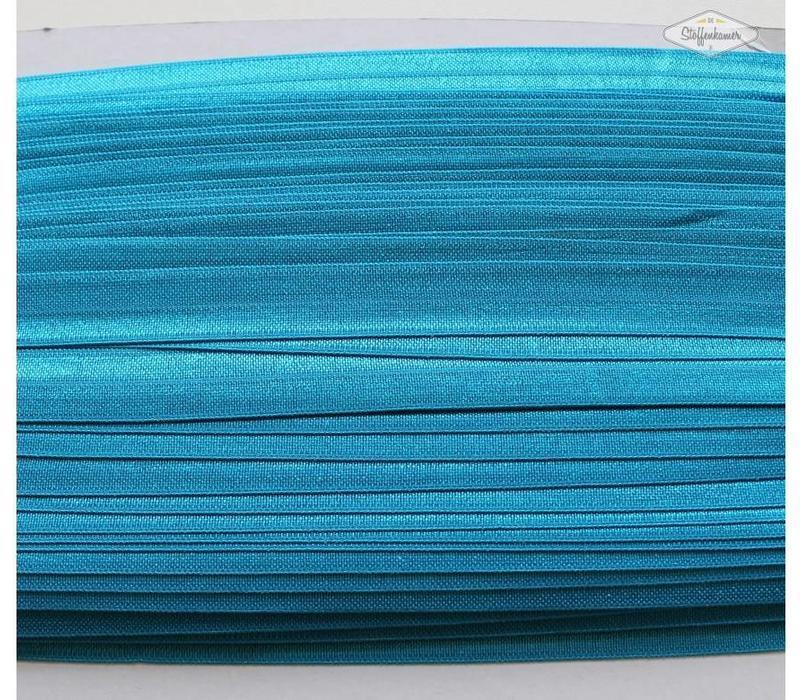 Rekbare biaisband turquoise