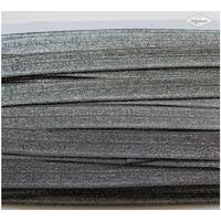 Rekbare biaisband metallic zilver