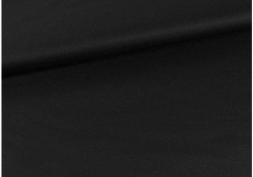 De Stoffenkamer Effen crepe zwart