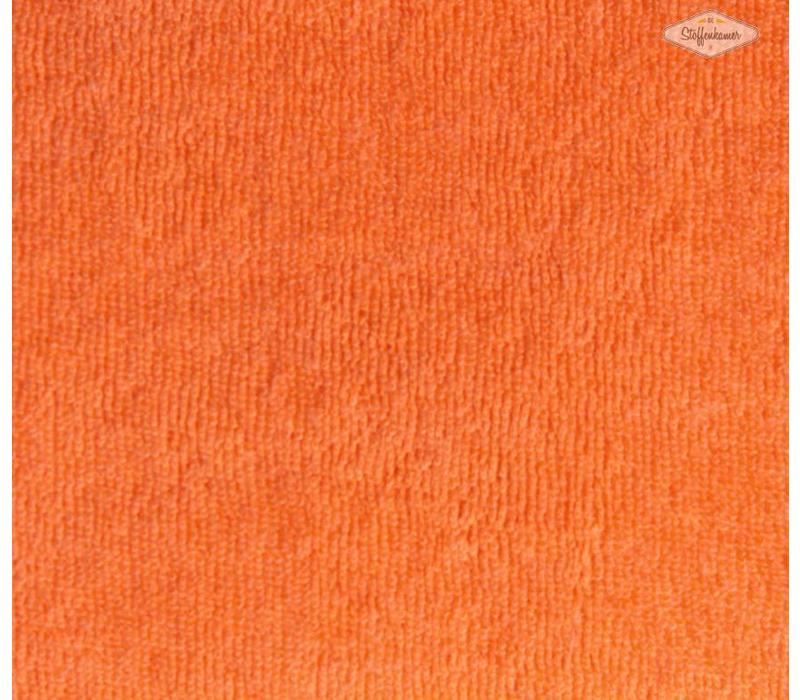 Rekbare badstof licht oranje