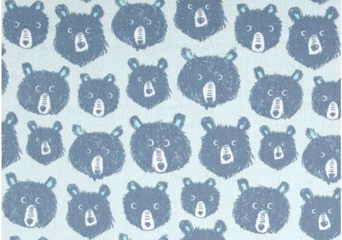 Cotton + Steel Cozy collection bears blue flanel