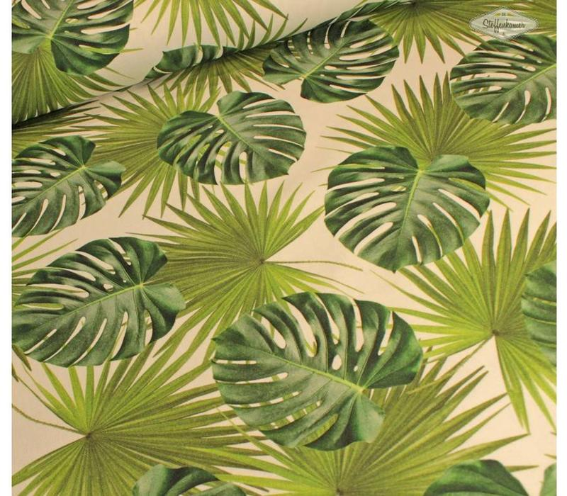 Stevige katoen botanical leaves