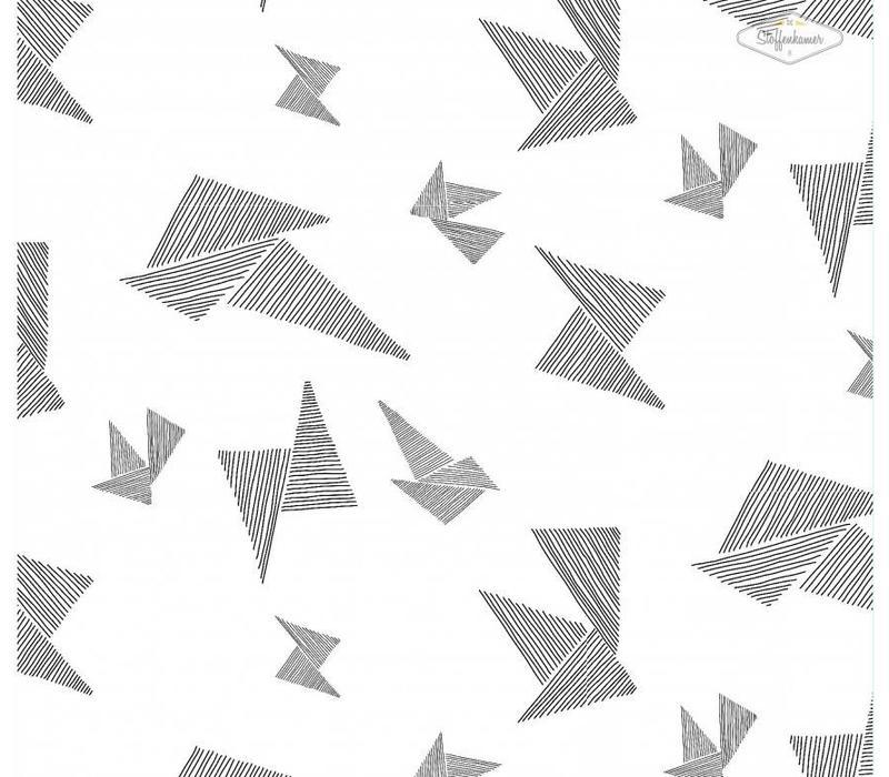 Origami Black White Tricot - I got stripes