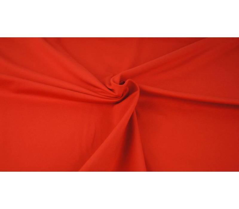 Effen tricot Echt rood