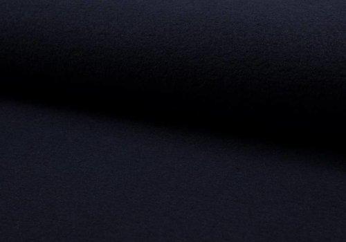 De Stoffenkamer Gekookte wol donkerblauw