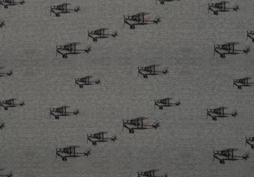 De Stoffenkamer Sweater Tricot Planes grey