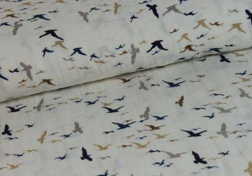 De Stoffenkamer Double gauze birds