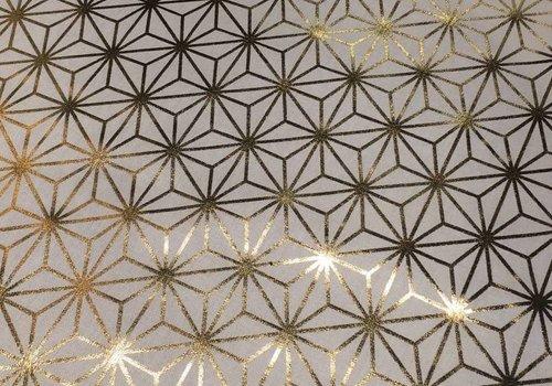 De Stoffenkamer Stevige katoen Geo White Gold