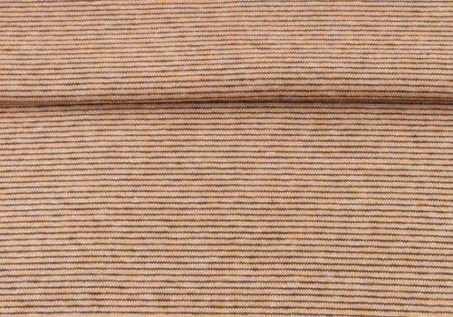 De Stoffenkamer Boordstof oker stripes