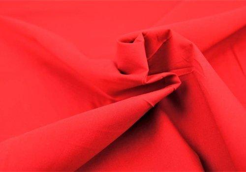 De Stoffenkamer Effen katoen rood
