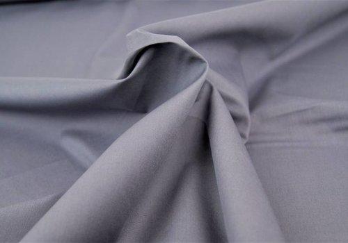 De Stoffenkamer Effen katoen grijs