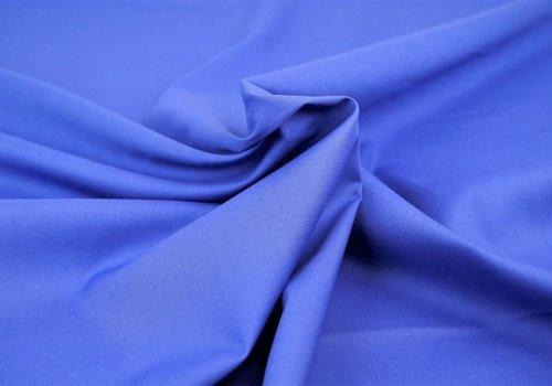 De Stoffenkamer Effen katoen koningsblauw