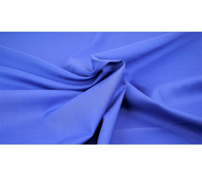 Effen katoen koningsblauw