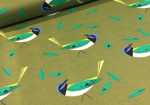 Birch Tricot green jay
