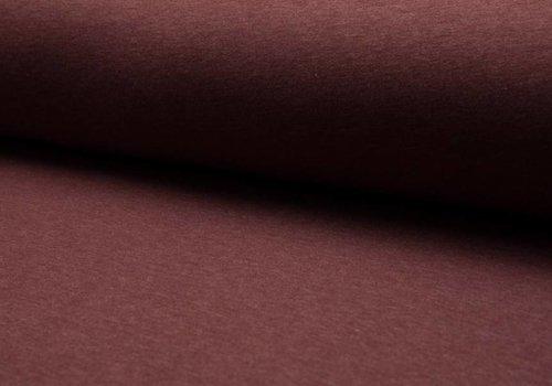 De Stoffenkamer Effen sweaterstof Bordeaux Melé
