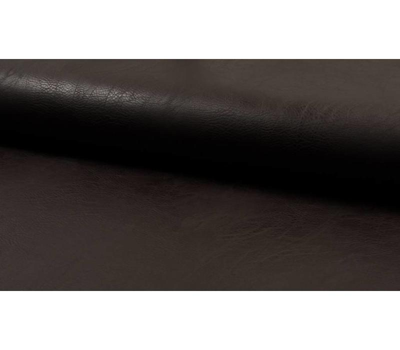 Faux-Leather Dark Brown