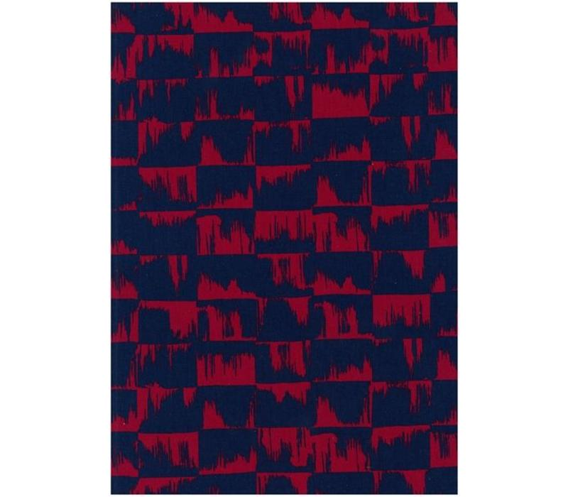 Abstract Kokka Canvas Red