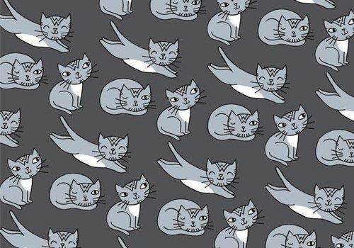 About Blue Fabrics Eva Mouton Cats