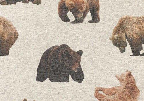 De Stoffenkamer Sweater Tricot Bears grey