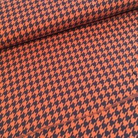 BIO Jacquard Pied de Poule orange