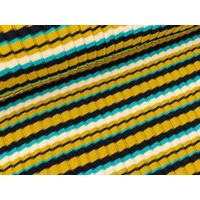 BIO Jacquard Knitty Stripes Mustardish