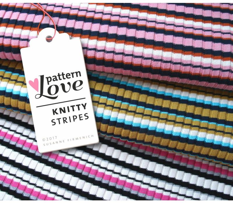 BIO Jacquard Knitty Stripes Pinkish