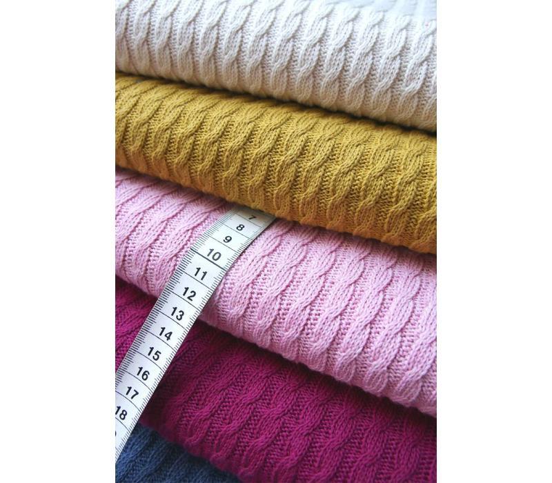 BIO Jacquard Knitty Plait Mustard Yellow