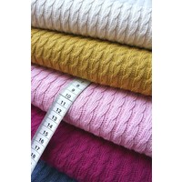 BIO Jacquard Knitty Plait Jeans Blue