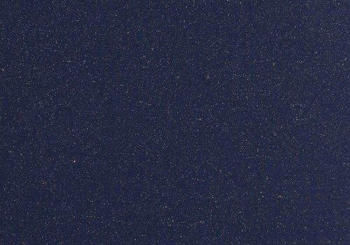 De Stoffenkamer Boordstof Glitter marineblauw goud