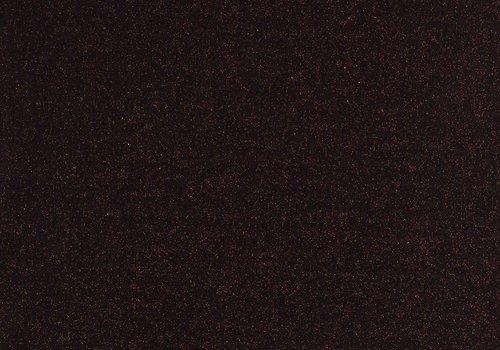 De Stoffenkamer Boordstof Glitter Zwart Koper