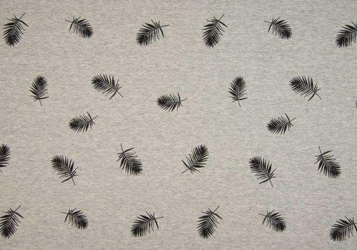 De Stoffenkamer Sweater Tricot Grey Melange Feathers