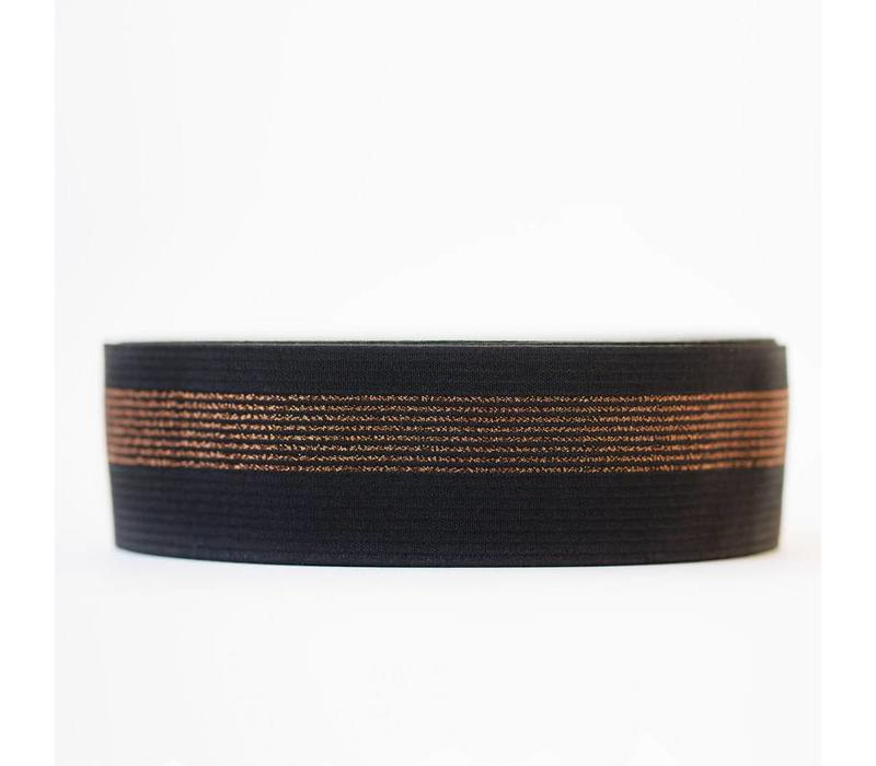 Taille Elastiek Zwart Koper 5cm