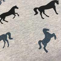 Sweater Tricot Horses grey Metallic