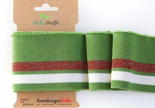 Albstoffe - Hamburgerliebe Cuff Me Glam Green copper