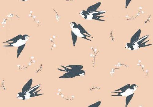 Birch Birch Interlock Pink Little Swallows